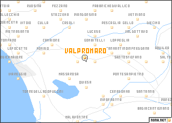 map of Valpromaro