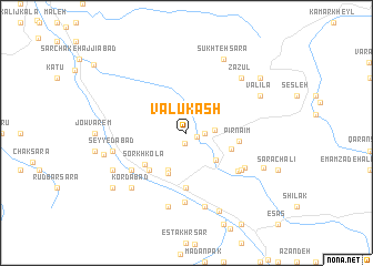map of Valū Kash