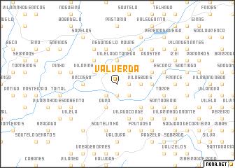map of Valverda