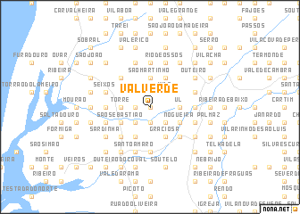 map of Valverde