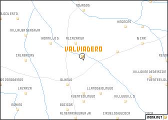 map of Valviadero