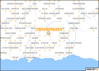 map of Vamvakádhes