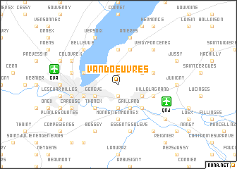 map of Vandœuvres