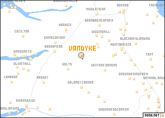 map of Vandyke