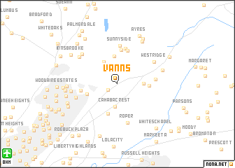 map of Vanns