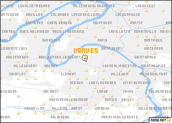 map of Vanves
