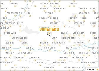 map of Vápensko