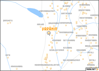 map of Varāmīn