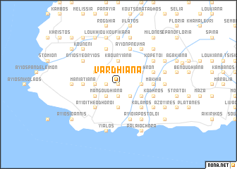 map of Vardhianá
