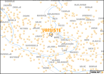 map of Vardište