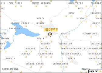 Varese Italy map nonanet