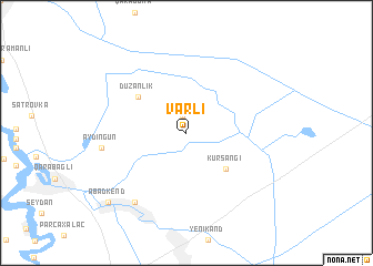 map of Varlı