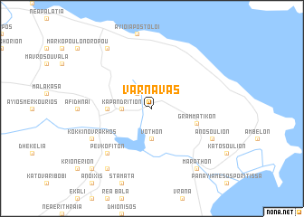 map of Varnávas