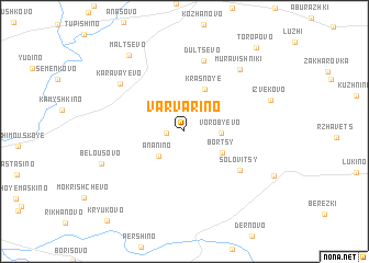 map of Varvarino