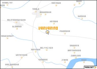 map of Varvarino
