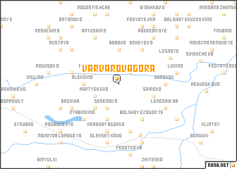 map of Varvarova-Gora
