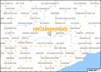 map of Várzea do Vinagre