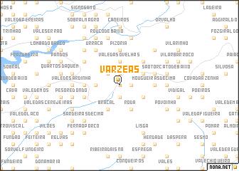 map of Várzeas