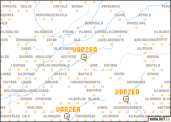 map of Várzea