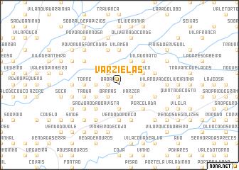 map of Varzielas