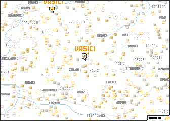 map of Vasići
