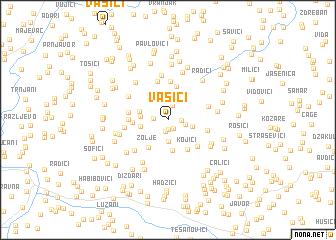 map of Vasići