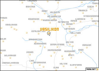 map of Vasilikón