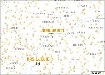 map of Vasiljevići