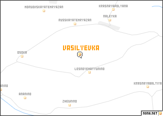 map of Vasil\