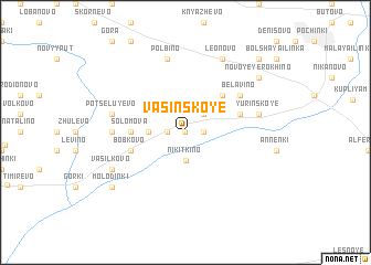 map of Vasinskoye
