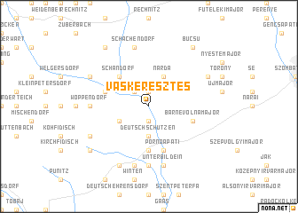 map of Vaskeresztes