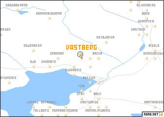 map of Västberg