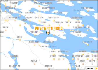 map of Västertvärnö