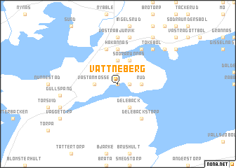 map of Vattneberg