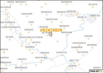 map of Vazhzhova