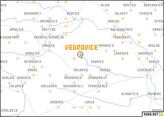 map of Vedrovice