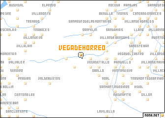 map of Vega de Hórreo