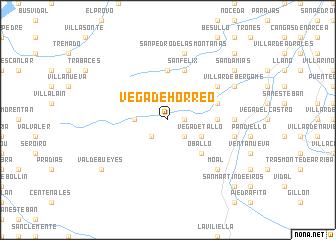 map of Vega de Hórreo