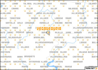 map of Vega de Ouría