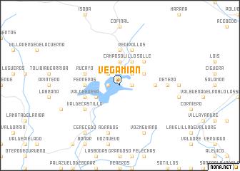 map of Vegamián