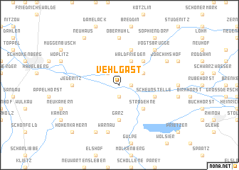 map of Vehlgast