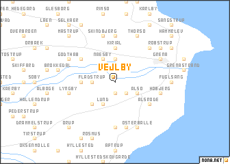 map of Vejlby
