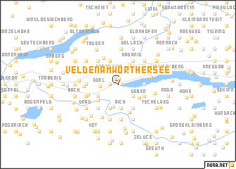 map of Velden am Wörthersee