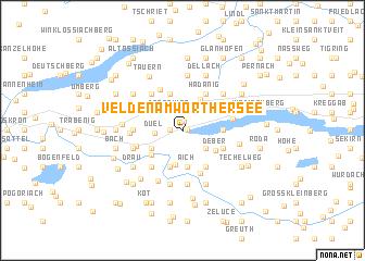 map of Velden am Wörthersee