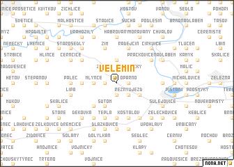 map of Velemín