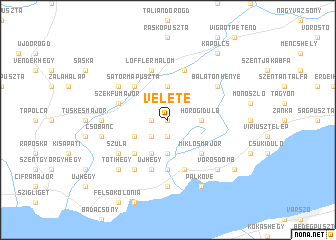map of Veléte