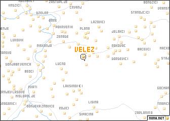 map of Velež