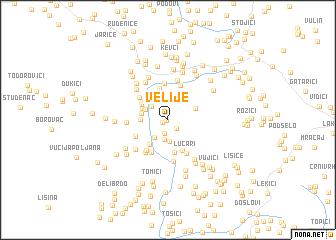 map of Velije