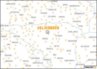 map of Velika Bara
