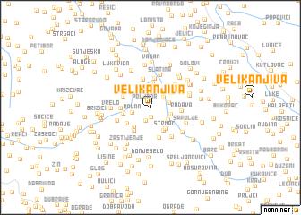 map of Velika Njiva